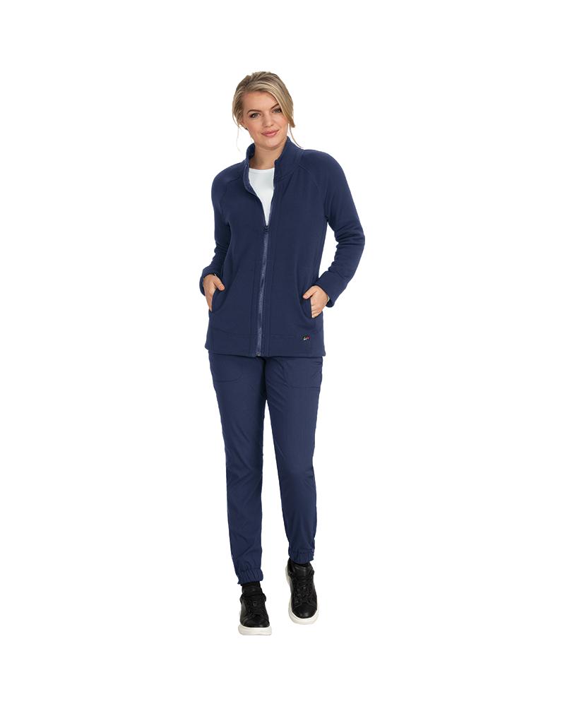 sudadera sanitaria azul para mujer