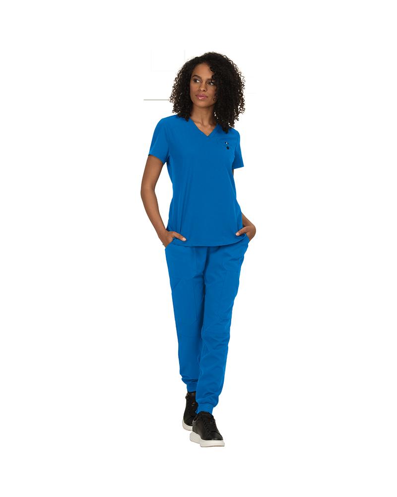 casaca sanitaria azul rey algodon next gen