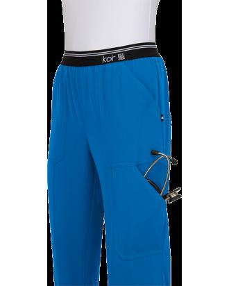 Uniformes estetica azul eléctrico