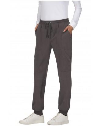 uniforme mujer algodon bolsillo gris