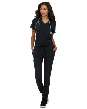 pijama sanitario negro koi basics