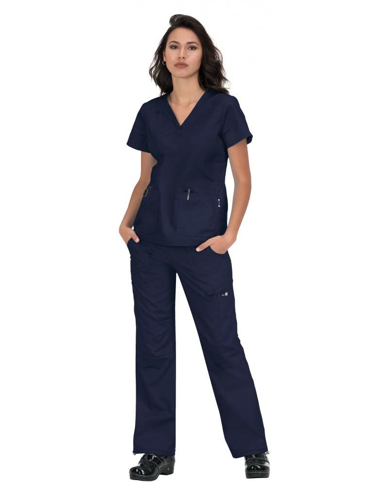 Pantalón Sanitario ENERGY mujer blanco por detrás
