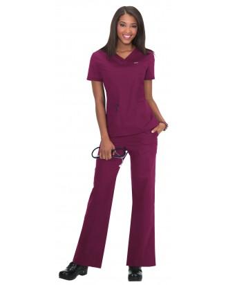 Pantalones sanitarios tallas grandes color gris claro