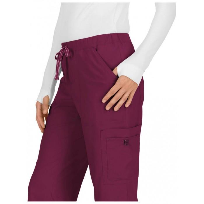 Pantalones sanitarios tallas grandes color vinotinto