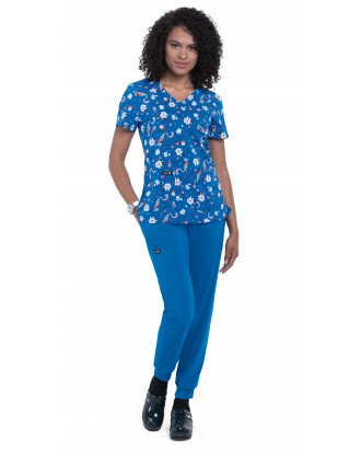 pantalon sanitario estilo jogger azul rey