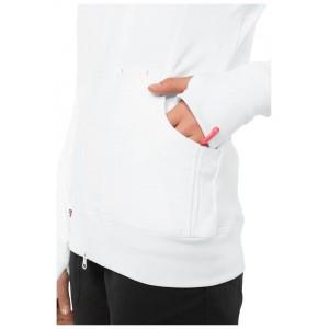chaqueta sanitaria blanca foto de lado