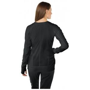 chaqueta sanitaria negra de espalda