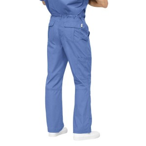 pantalones sanitarios multibolsillos color celeste