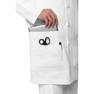 bata de laboratorio con multi bolsillos