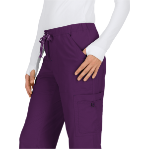 Pantalones sanitarios tallas grandes color berenjena