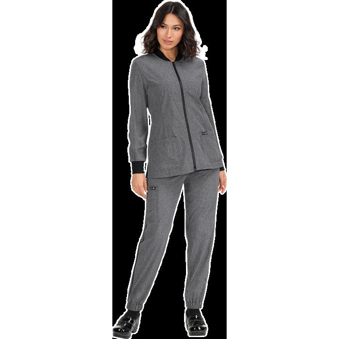 chaqueta sanitaria mujer gris clara