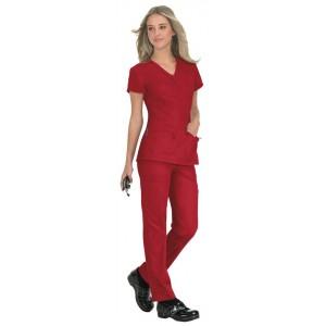 Uniforme sanitario enfermería casaca STRETCH MACKENZIE rojo