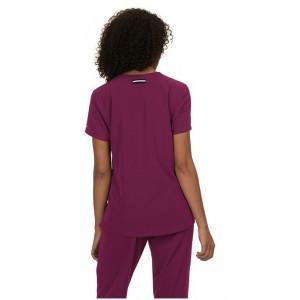 casacas sanitarias mujer koi color burdeos modernas