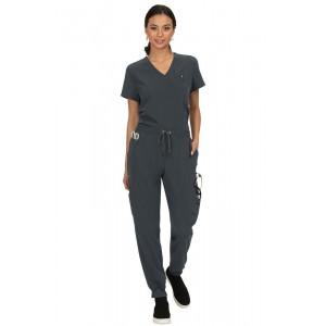 casacas sanitarias mujer koi color gris oscuro comodas y modernas