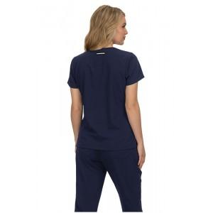 uniforme y casaca sanitaria azul